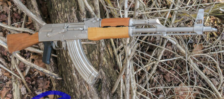 AK47 TROPHY RIFLE NICKEL PLATED-WASR-10
